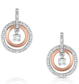 Montana Earrings Circles Rose Gold Cubic Zirconia