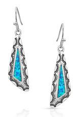 Montana Earrings Salem Dusk Antiqued Silver Turquoise Opal