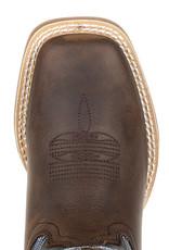 Durango Durango Kids Western Belgian Brown Denim Square Toe Cowboy Boots