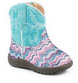 Roper Girls Roper Infant Glitter Aztec Boots