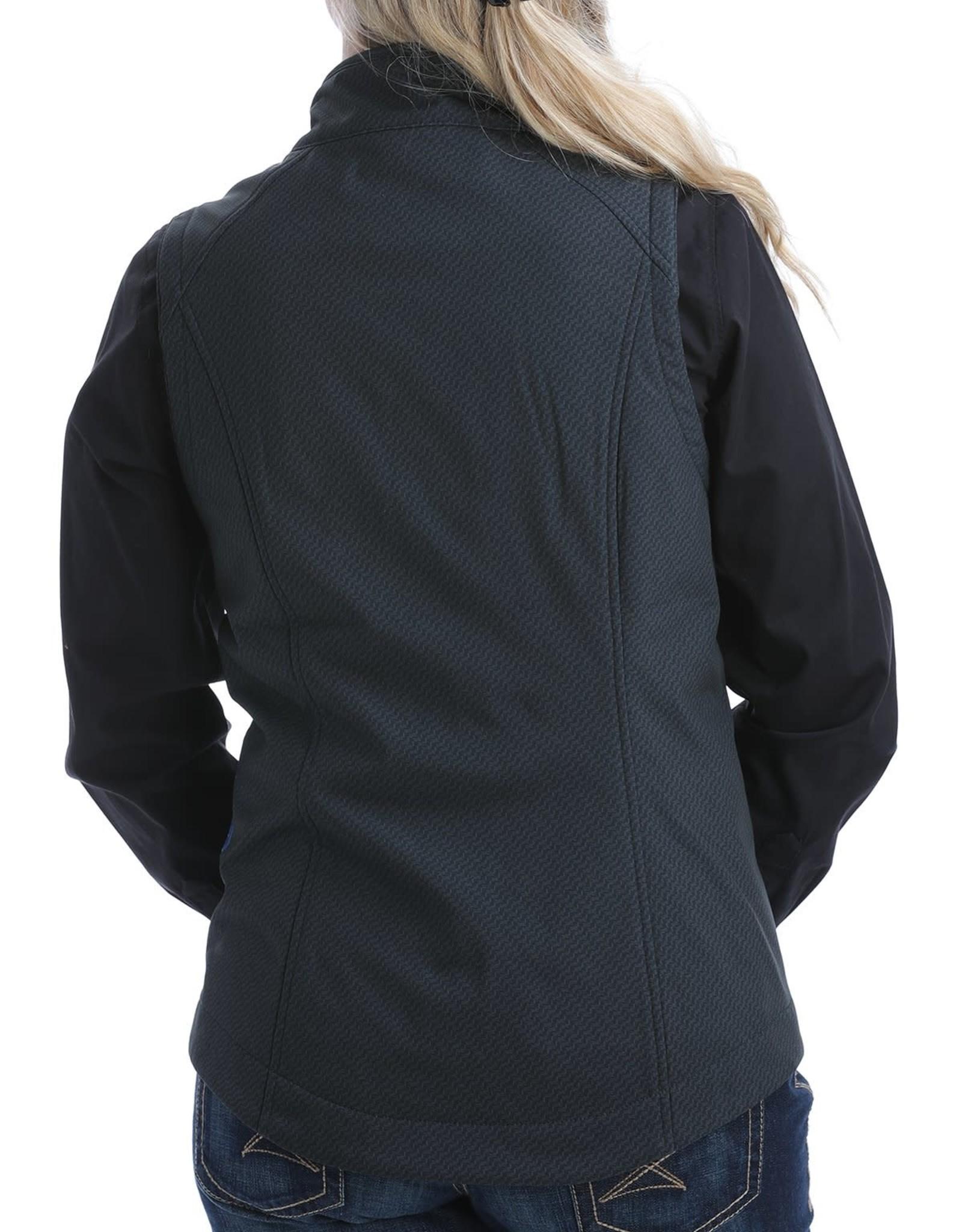 Cinch Womens Cinch Ladies Black and Royal Bonded Vest