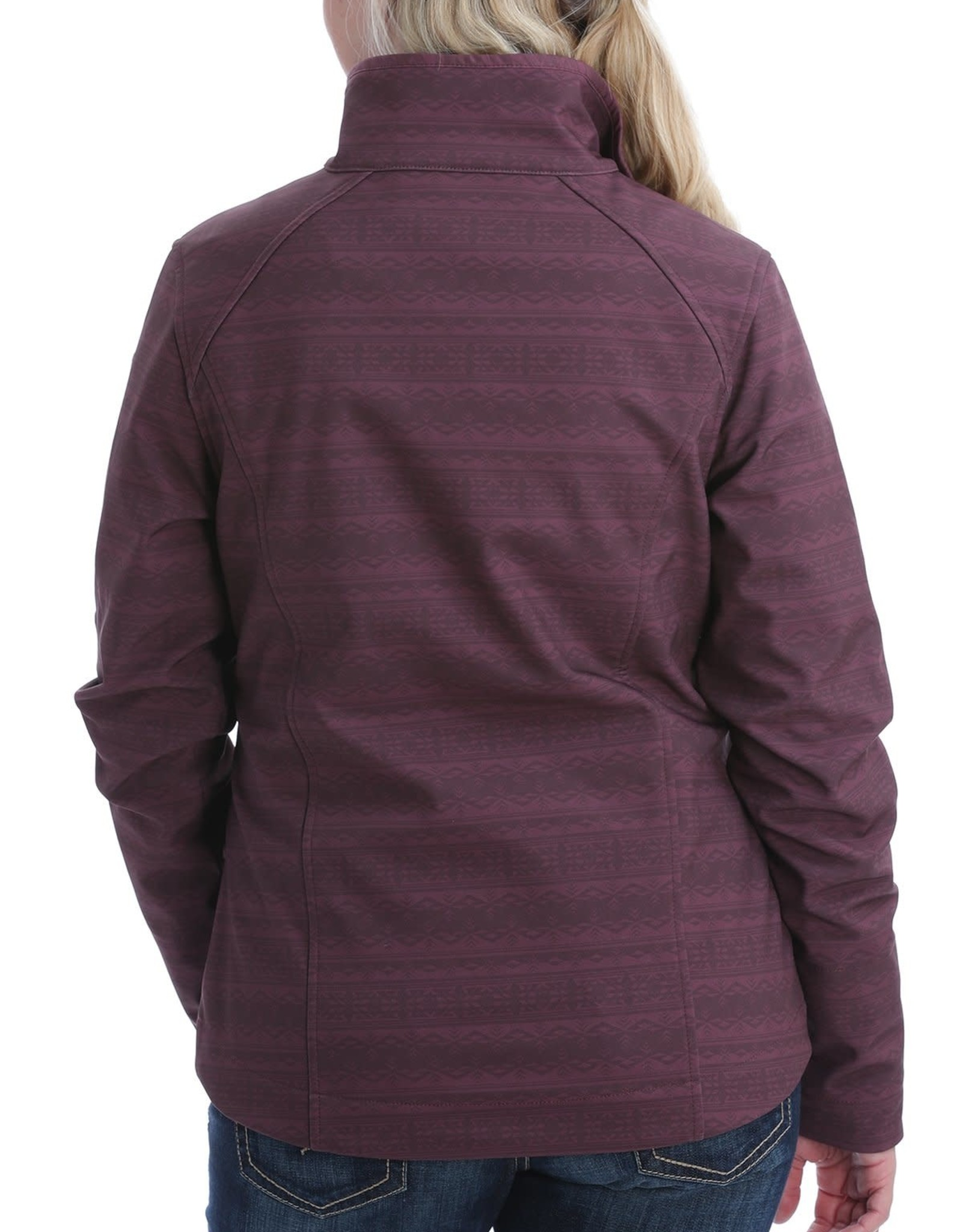 Cinch Womens Cinch Burgundy Print Bonded Jacket