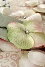 Devil May Wear Dainty Flower Bobby Pin. Swarovski Crystal center. Painted Bobby Pin.