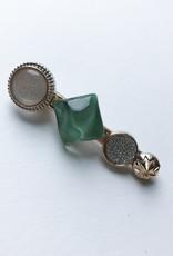 Young & Heart Chanel Button Clip Seafoam