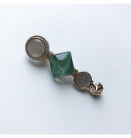 Young & Heart Chanel Button Clip Seafoam