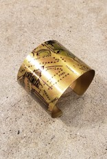 """Young & Heart Hermine Printed Brass Cuff. Lazer Printed. France. 6.6"""""""