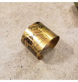 Young & Heart Hermine Printed Brass Cuff. Lazer Printed. France. 6.6""