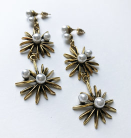 Young & Heart Regal Daisy Earrings Gold Plated