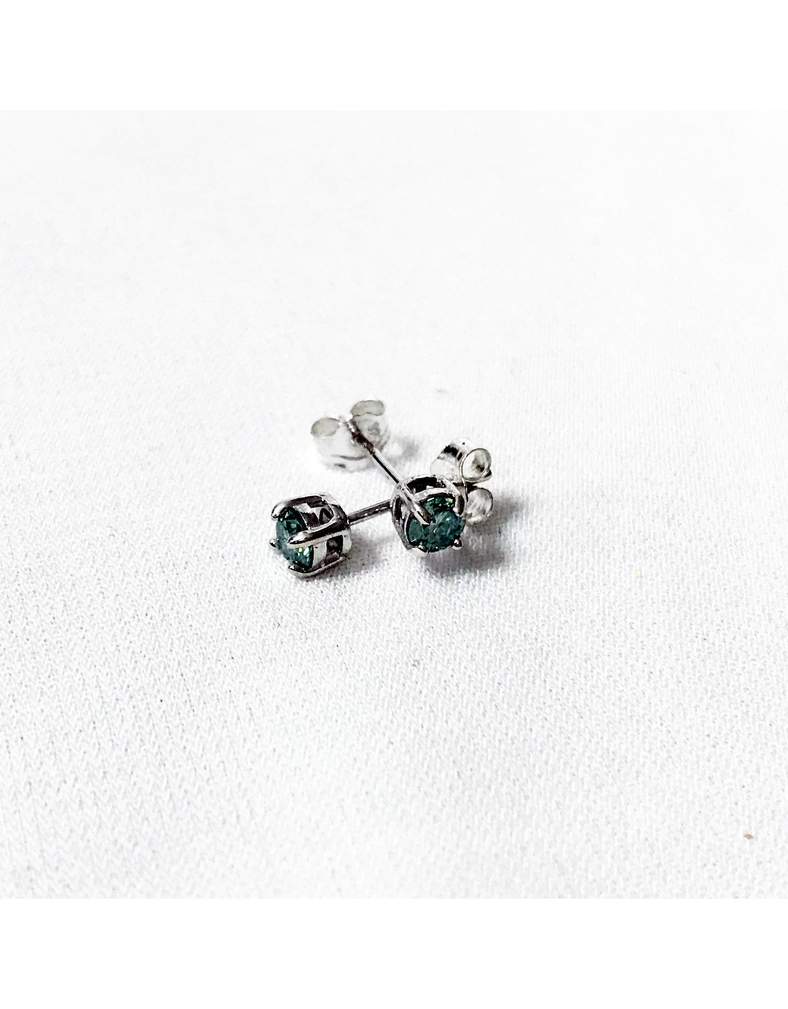 Chris Gillrie Stardust Tiny Studs, Moissanite