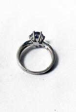 Chris Gillrie Starburst Silver Moonstone Ring Size 7