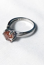 Chris Gillrie In Bloom Sunstone Silver Ring Size 6