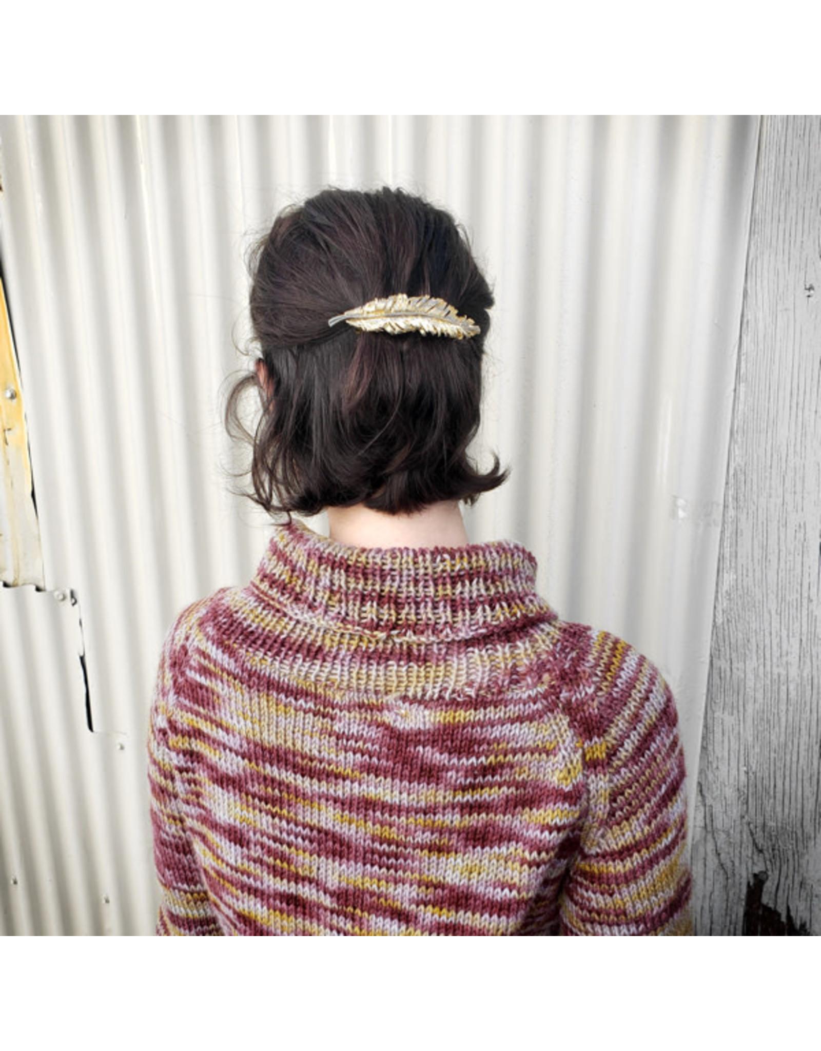 Devil May Wear Cranberry Lemon Turtleneck Sweater. Hand Dyed, Hand Knit. 100% Wool.