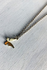 """Devil May Wear Dainty Butterfly Necklace Gold Plated 24"""" Chain"""