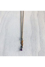 """Devil May Wear Hello Birdie Necklace. Little Swarovski Crystal on Gold Plated Bird Cutout and Chain. 22"""""""