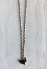 """Devil May Wear Juniper Fox Necklace. Gold Plated. Solid Gold Chain. 23"""""""