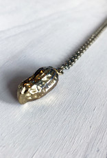Devil May Wear Real Peanut Necklace. Gold plated Peanut pendant on gold plated chain. 24""