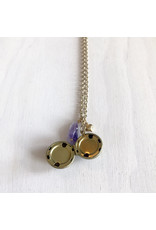 Devil May Wear It's A Small World Necklace Brass and Gold Plated