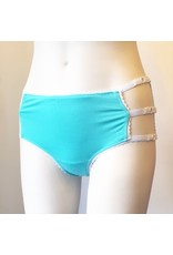 Devil May Wear Cage Panties. Bamboo blend. Adjustable size tabs. Mid Rise. Seafoam/White