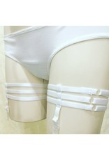 Devil May Wear Thigh Garters. Pair. Adjustable. White