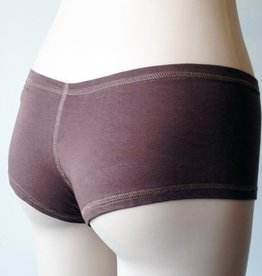 Devil May Wear Hot Shorts Bamboo Blend Underwear. Mocha