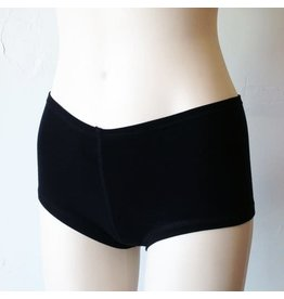 Devil May Wear Hot Shorts Bamboo Blend Underwear. Black
