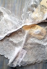 Devil May Wear French Cut Lace Underwear. Hand Dyed Colours. White