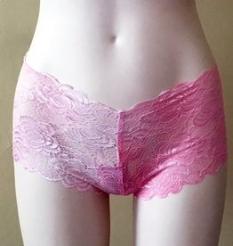 Devil May Wear French Cut Lace Underwear. Hand Dyed Colours. Pink