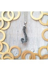 """Devil May Wear Cecaelia Tentacle Necklace. Silver Plated Tentacle Pendant. Silver Plated Chain. 20"""""""