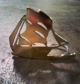 Chris Gillrie Multi Finger Ship Ring. Brass. Solid Silver ring back. Size 7
