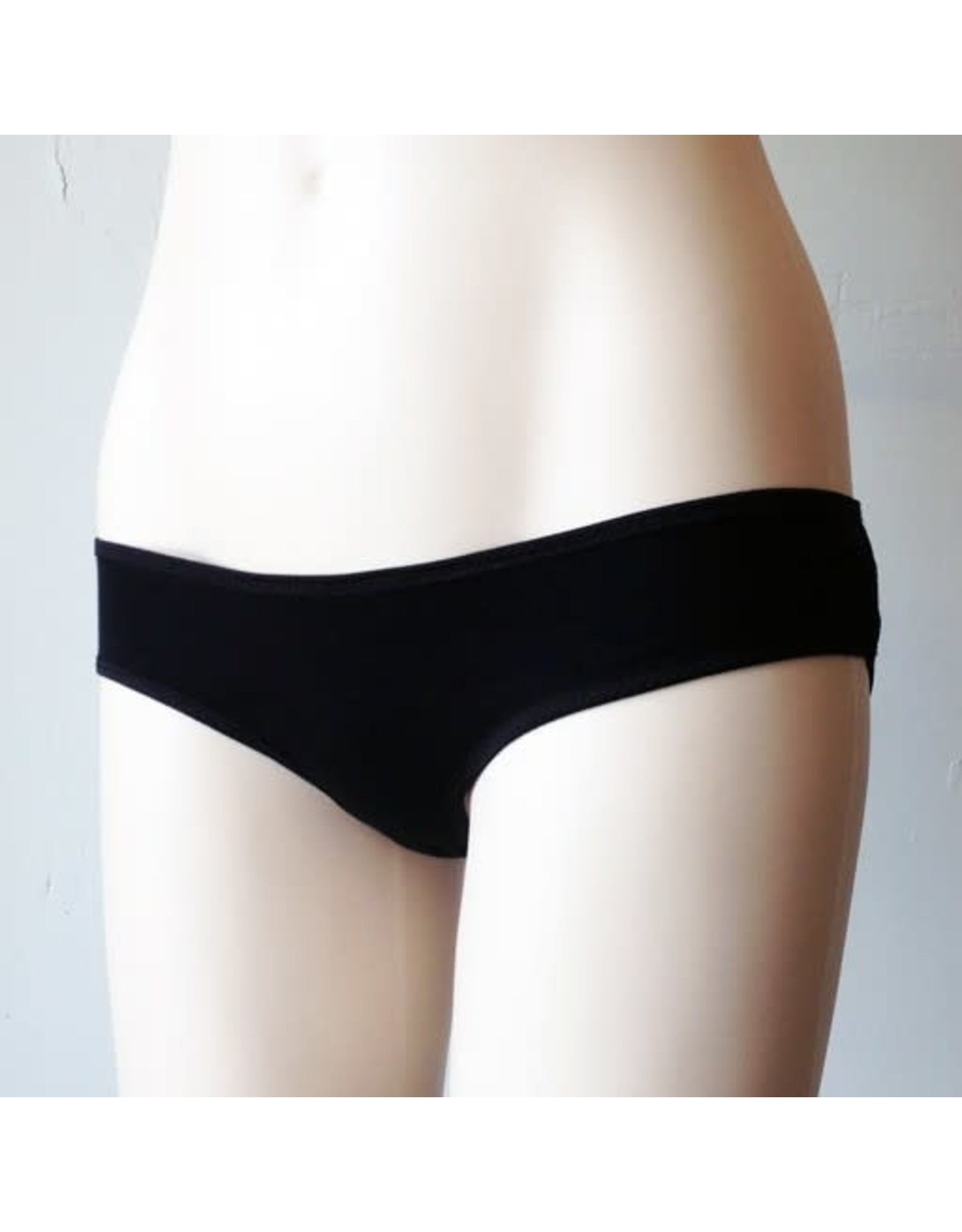Devil May Wear Basic Bikini Cut Underwear. Bamboo Blend. Black