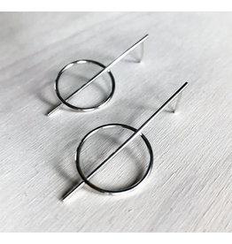 Devil May Wear Doben Silver Earrings