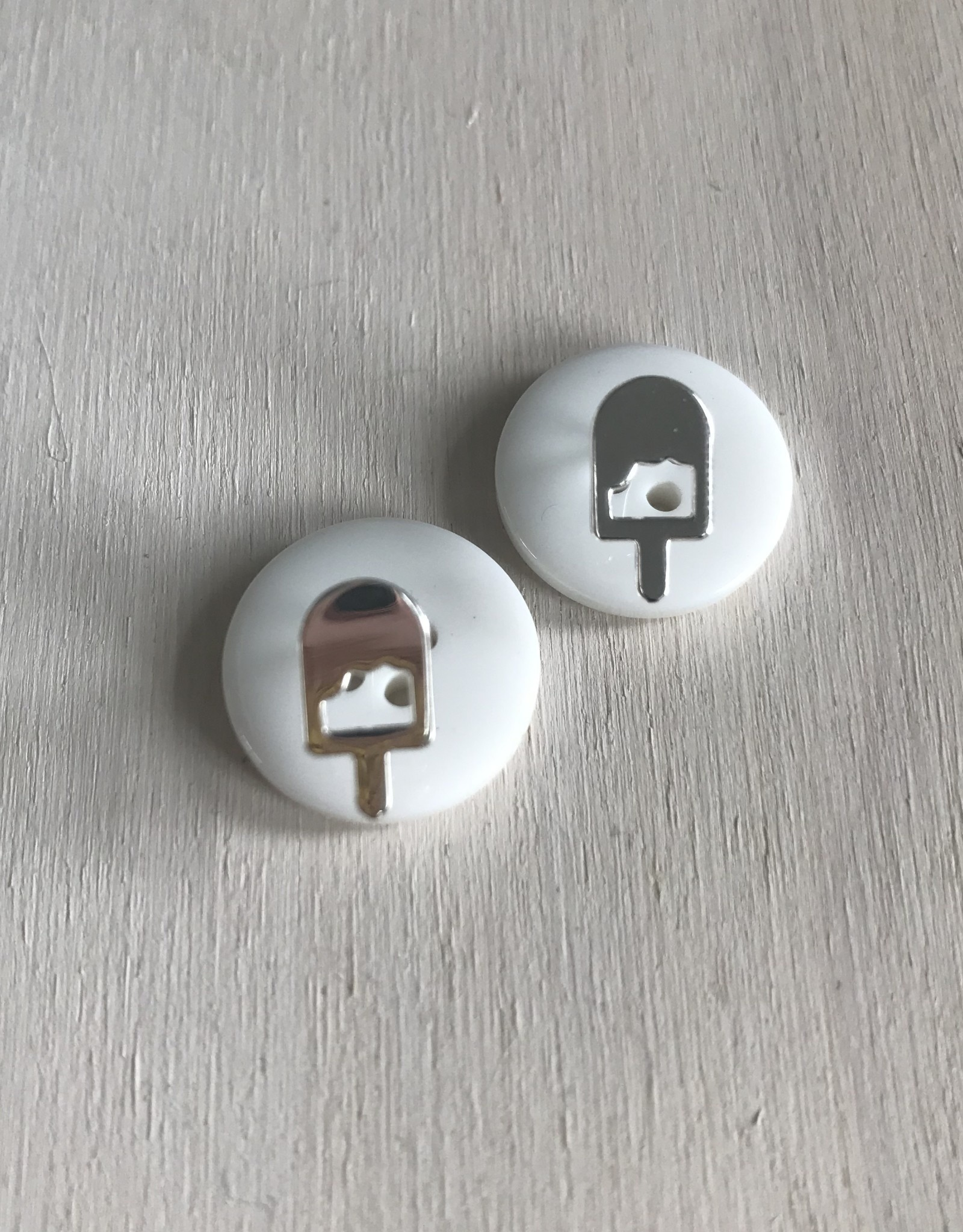 Young & Heart Popsicle Studs. Silver Plated.