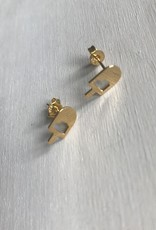 Young & Heart Copy of Popsicle Studs. Gold Plated.