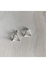 Devil May Wear Wishbone Silver Studs