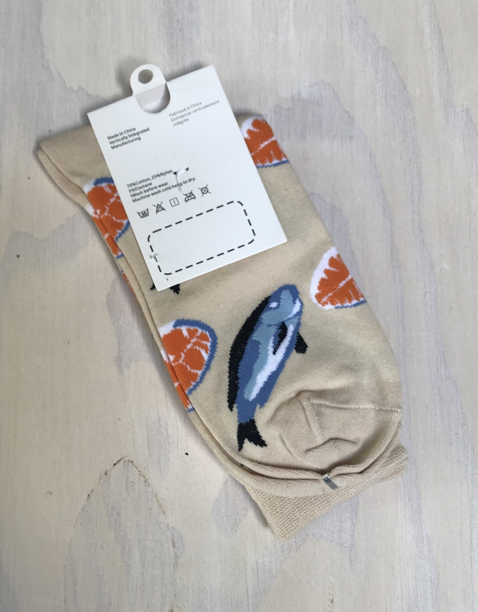 Young & Heart Idea Socks Nude Fish