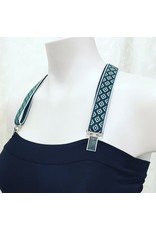 Devil May Wear Suspender Straps. 100% Elastic. Brass or Silver findings. Green Diamonds. One Size