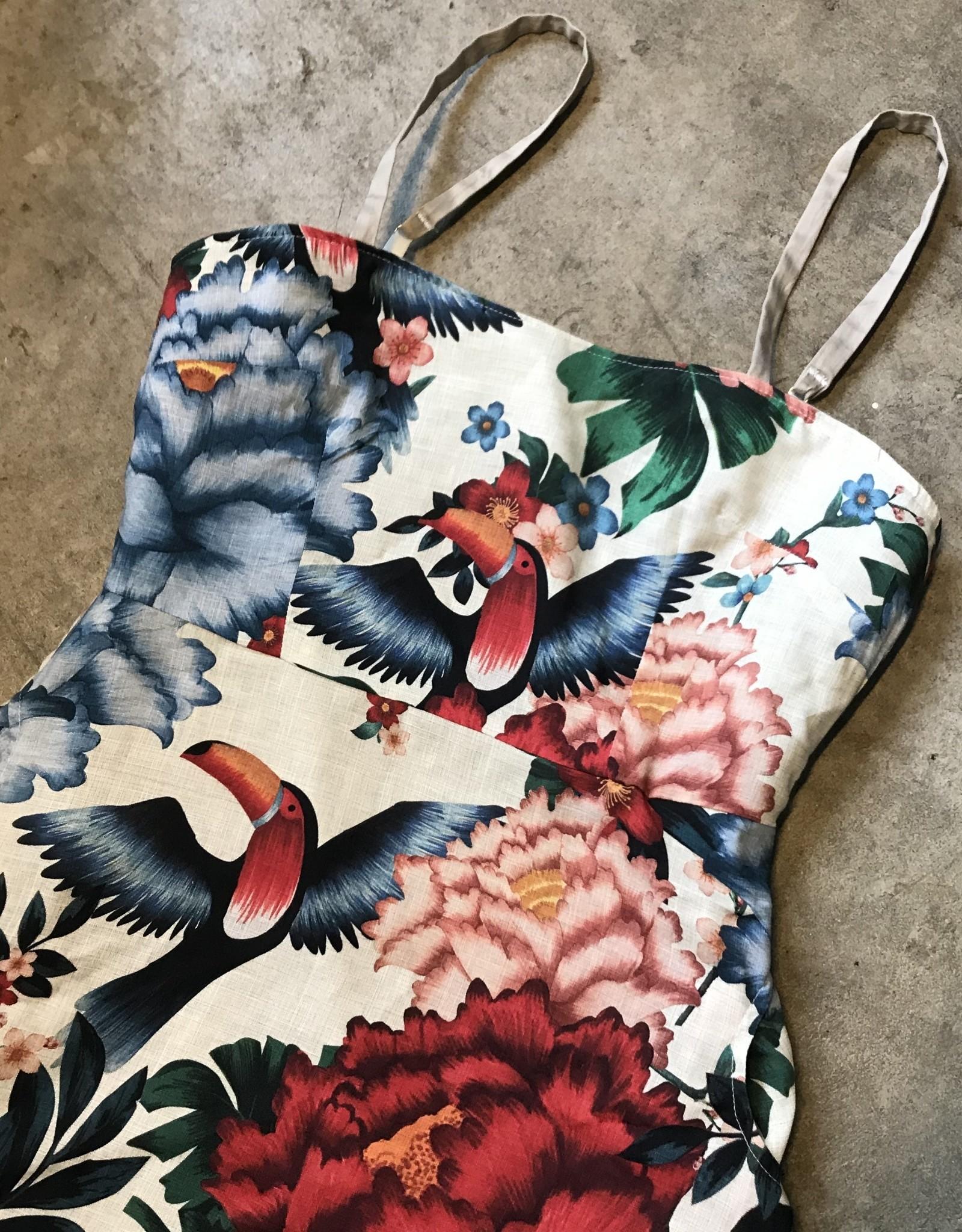 Devil May Wear Oahu Dress. Rayon Upper, Cotton/Spandex Under. Large