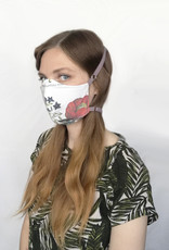 Devil May Wear Adjustable, Around the Head, Non Surgical Face Mask, Botanical