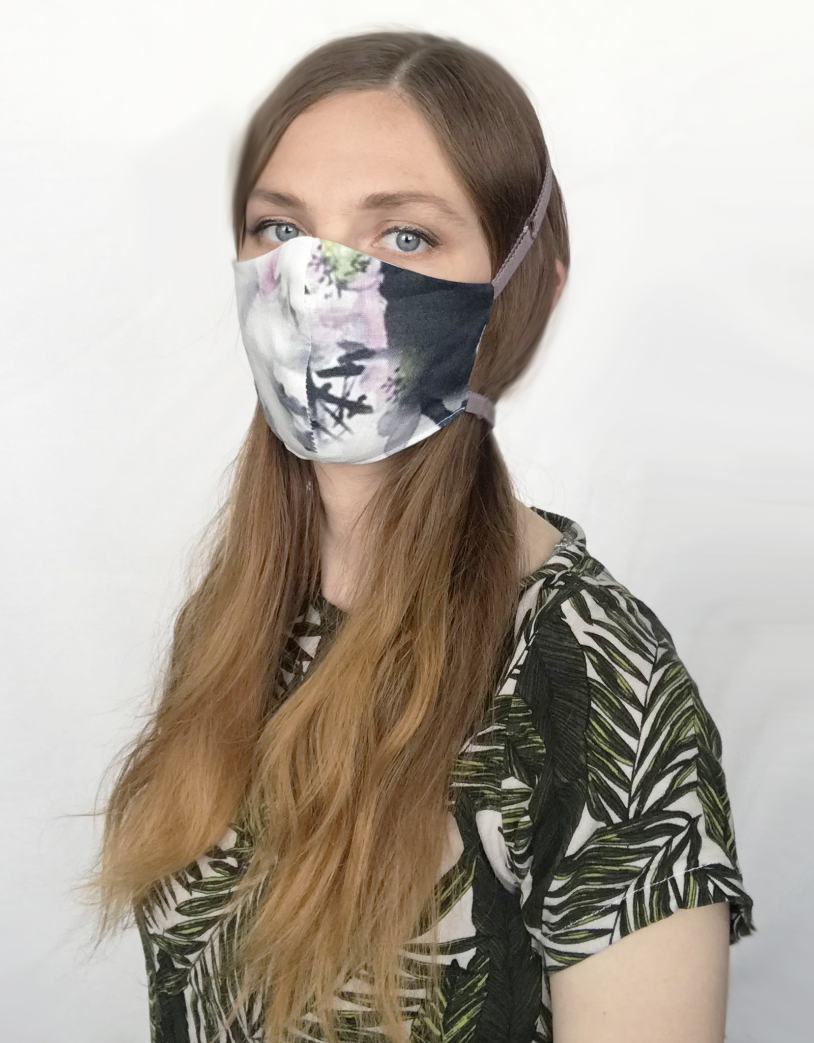 Devil May Wear Adjustable, Around the Head, Non Surgical Face Mask, Artistic Linen