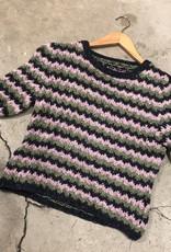 Devil May Wear Hand knit Silk Chevron Summer Sweater