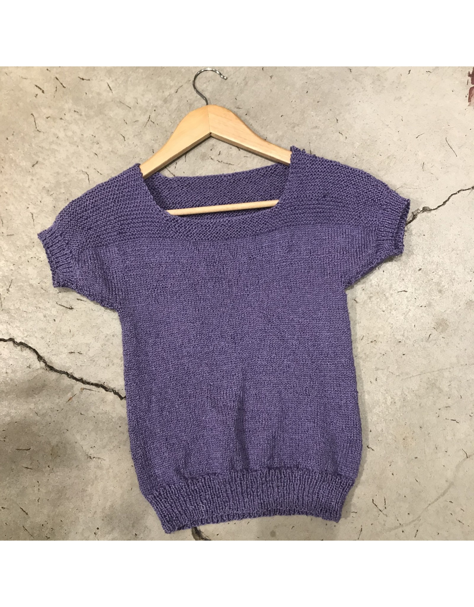 Devil May Wear Hand Knit Iris Silk Summer Sweater