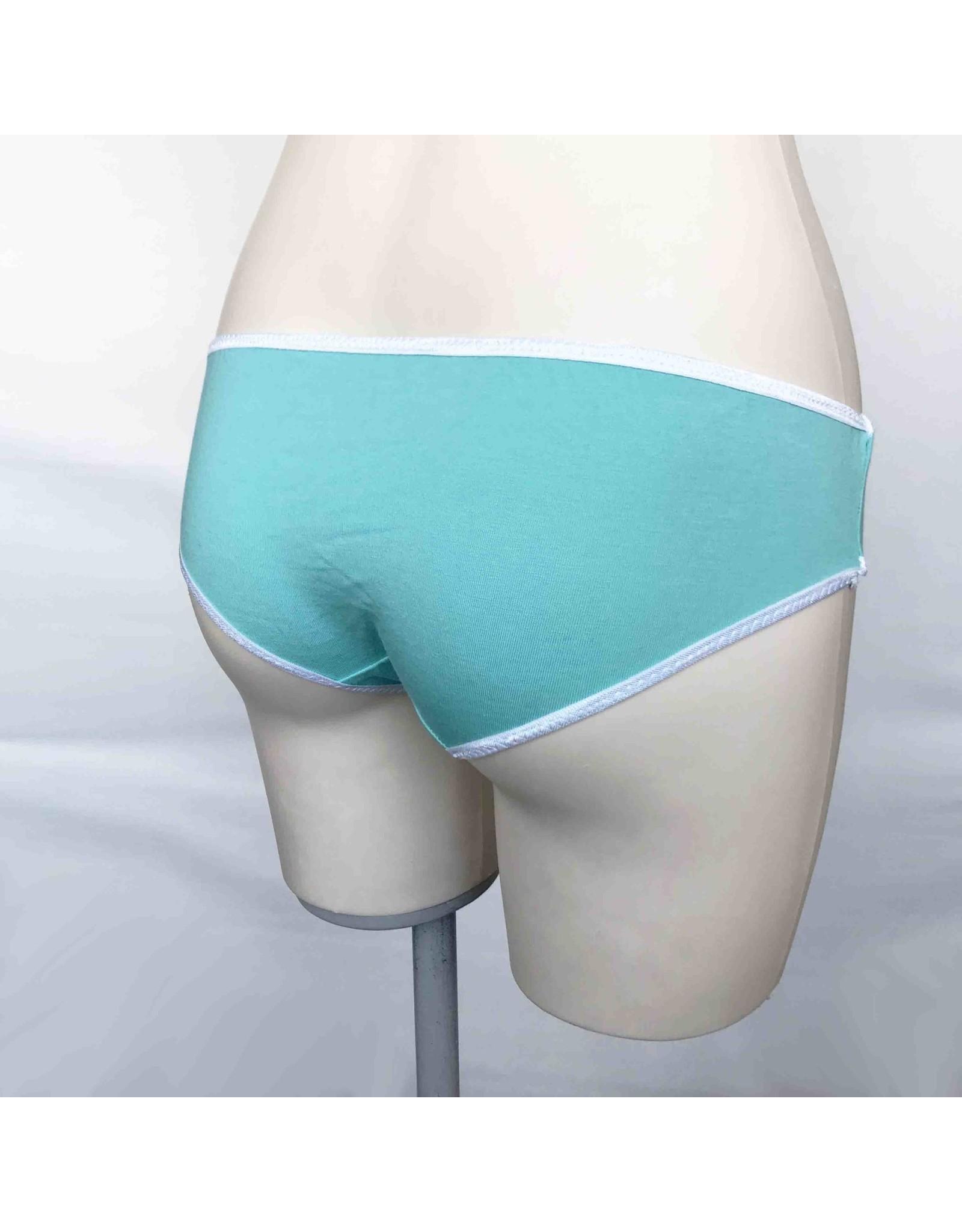 Devil May Wear Basic Bikini Cut Underwear. Bamboo Blend. Seafoam