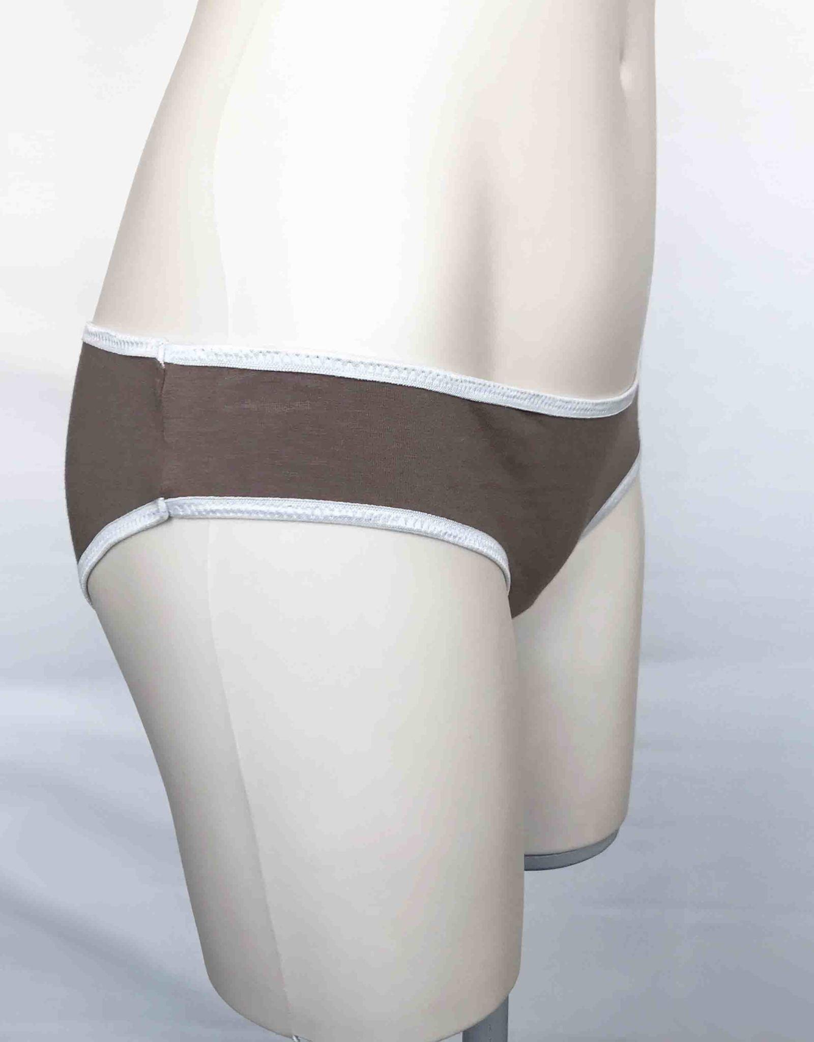 Devil May Wear Basic Bikini Cut Underwear. Bamboo Blend. Taupe
