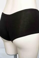 Devil May Wear Hot Shorts Bamboo Blend Underwear. Black