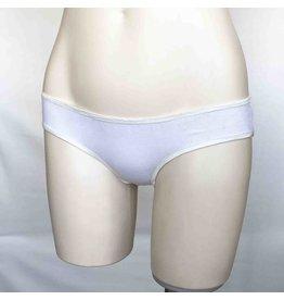 Devil May Wear Basic Bikini Cut Underwear. Bamboo Blend. White