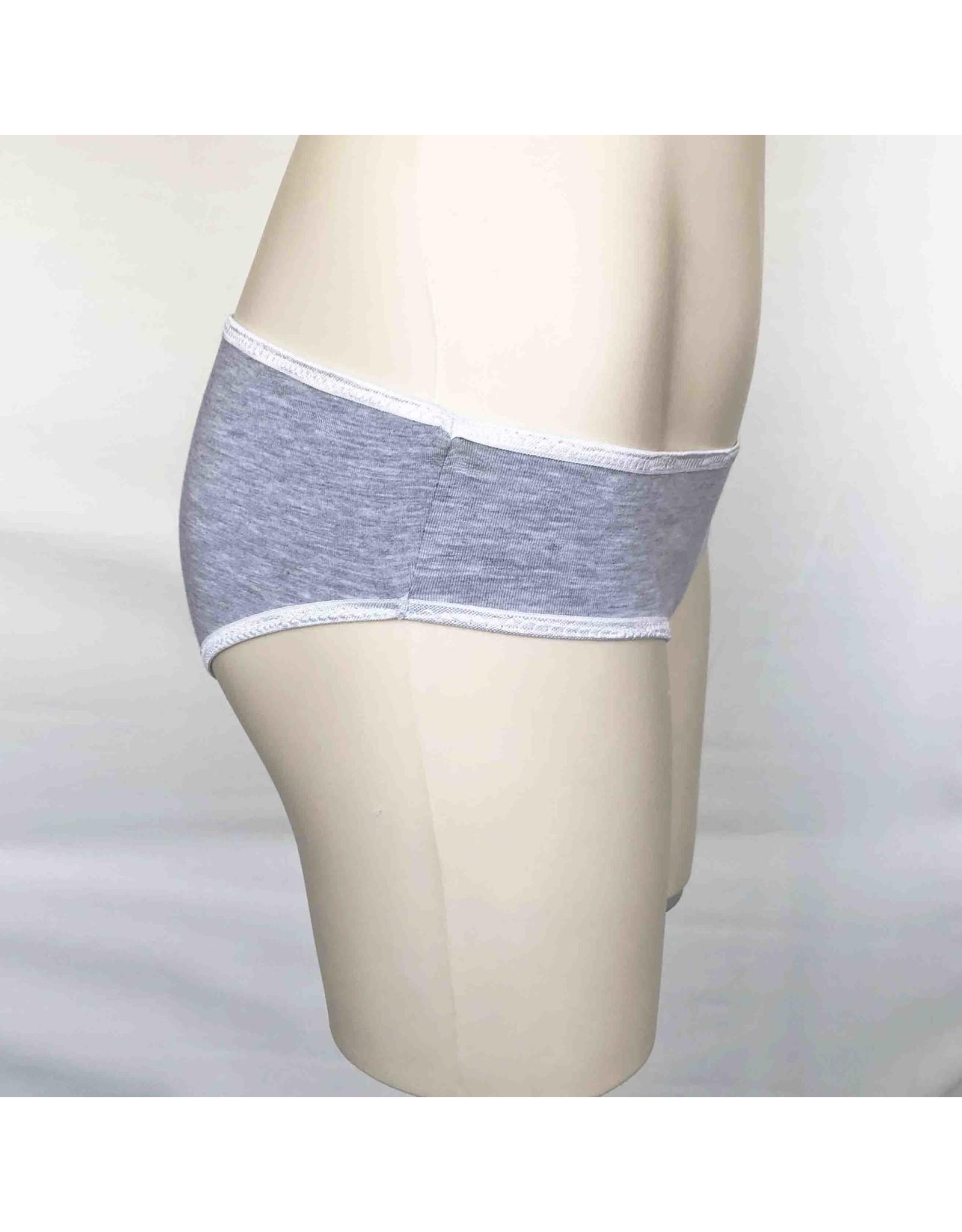 Devil May Wear Basic Bikini Cut Underwear. Bamboo Blend. Light Grey Mix
