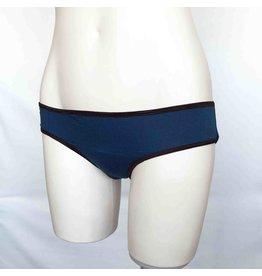 Devil May Wear Basic Bikini Cut Underwear. Bamboo Blend. Dark Teal