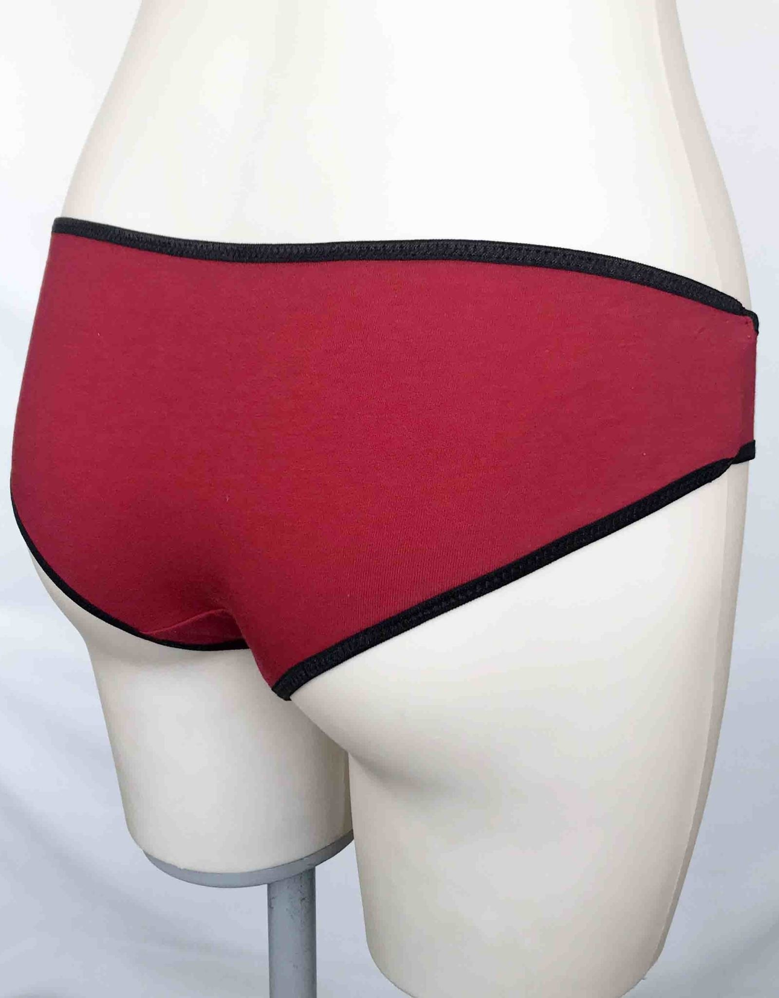 Devil May Wear Basic Bikini Cut Underwear. Bamboo Blend. Flame