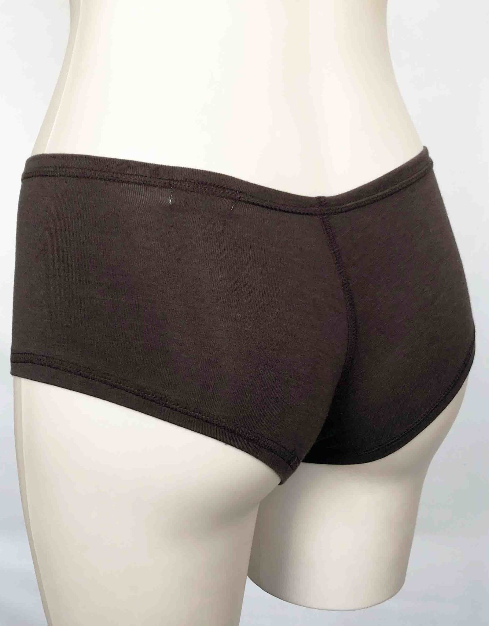 Devil May Wear Hot Shorts Bamboo Blend Underwear. Chocolate Brown