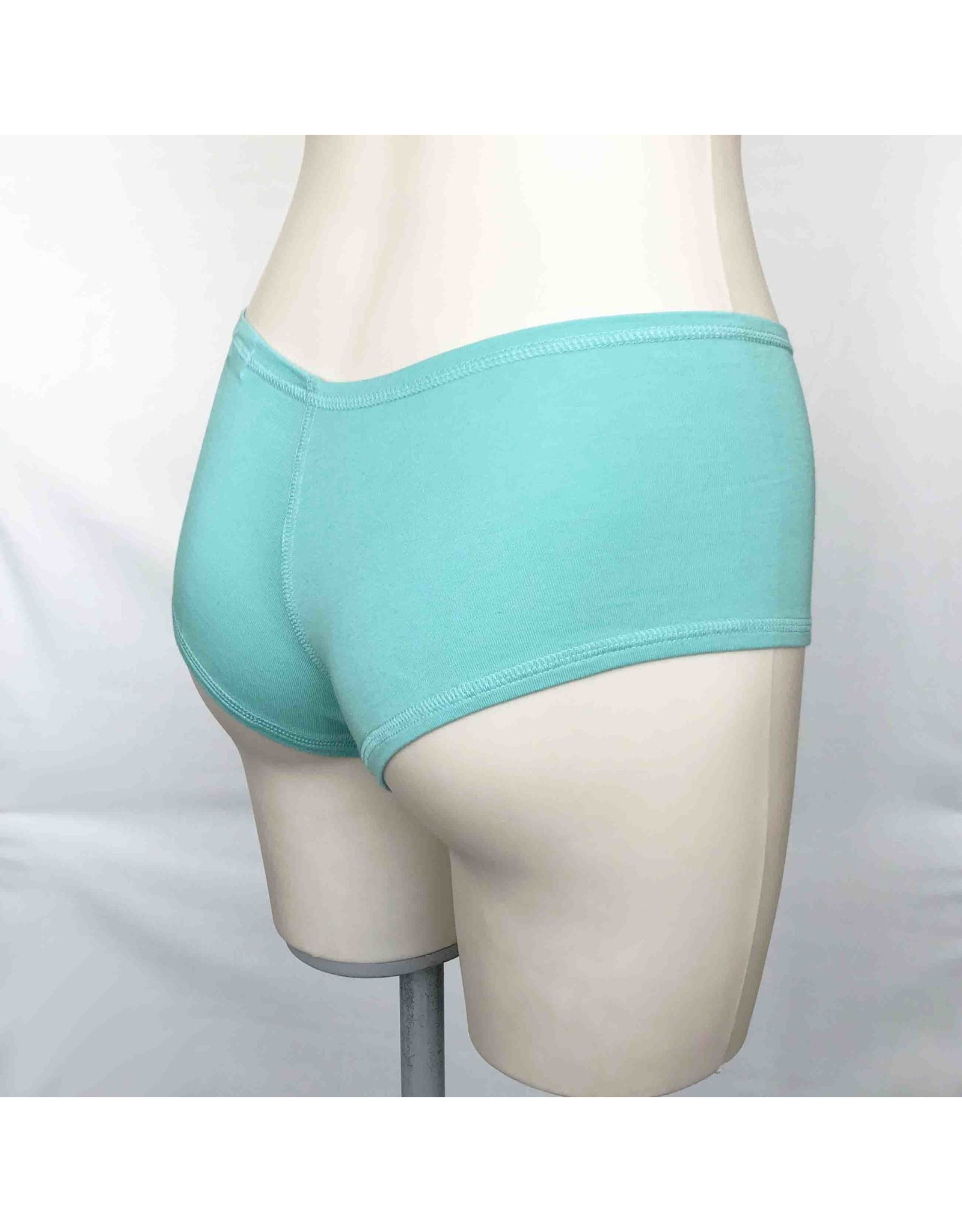 Devil May Wear Hot Shorts Bamboo Blend Underwear. Seafoam